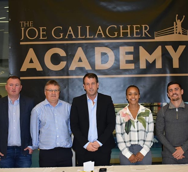 Panel for Announcing Joe Gallagher's Boxing Academy; featuring Gallagher, Anthony Crolla, Tasha Jonas, and FYZ's CEO Richard Marsh