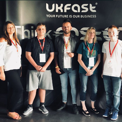 Kirsty, Jak, Danny, Helen and Jake at UKFast Awards