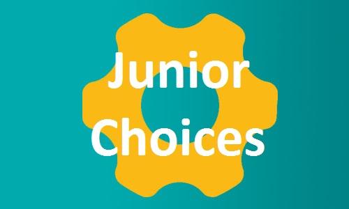 Junior Choices button