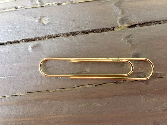 gold paperclip
