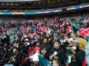 young people at nfl game
