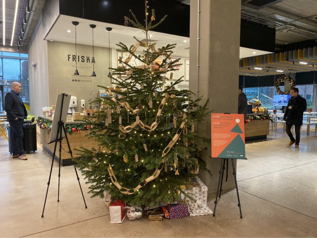 christmas tree at bruntwood