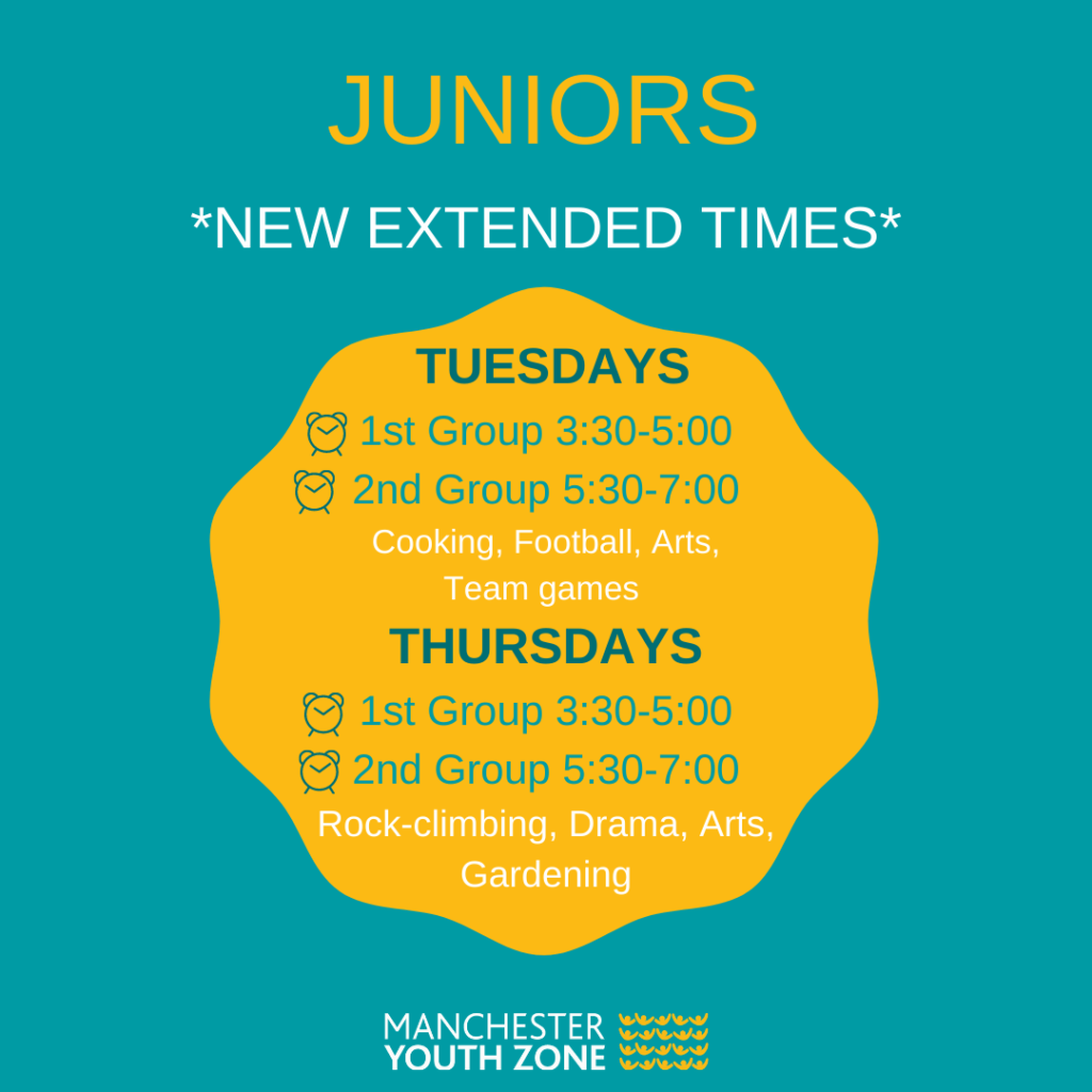 Juniors Timetable May 2021