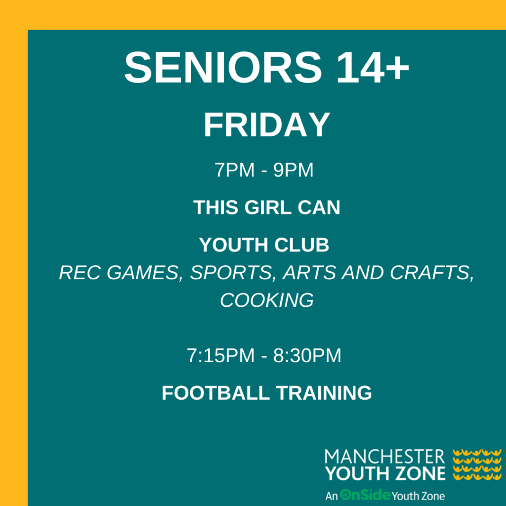 Timetable - Seniors Friday June 2021